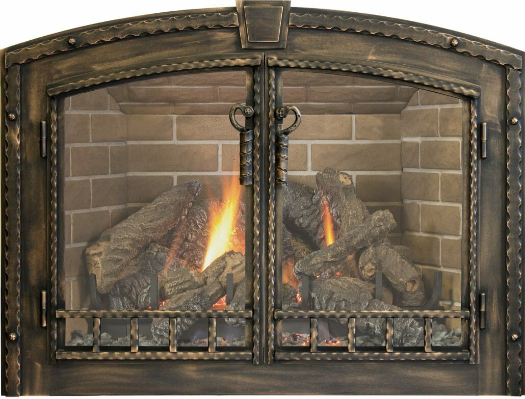 Superbe Keep Your Hearth Neat And Tidy With A Glass Fireplace Door.