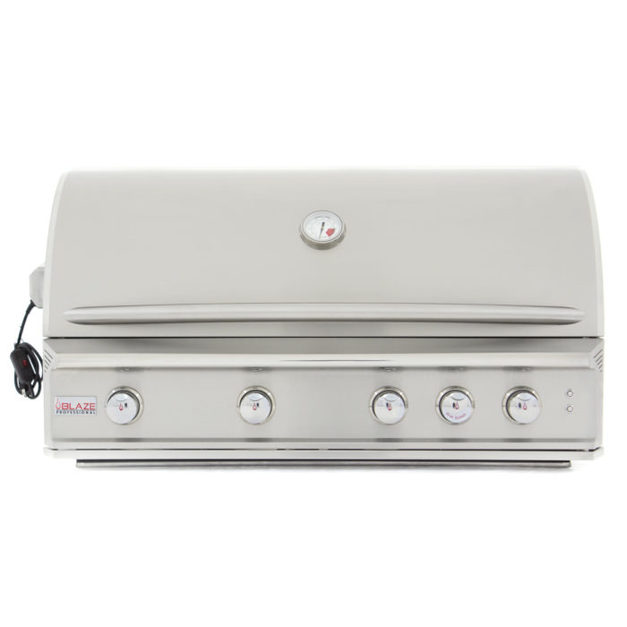 BLAZE PROFESSIONAL 44-INCH 4 BURNER BUILT-IN GAS GRILL WITH REAR INFRARED BURNER